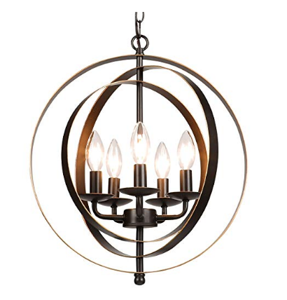Oil Rubbed Bronze Orb Chandelier, Available on Amazon