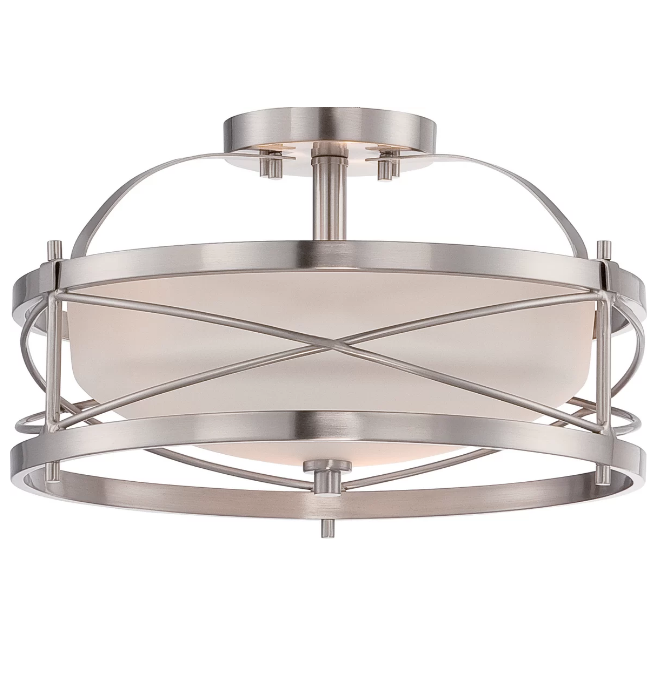 Brushed Nickel Decorative Semi-Flush, Wayfair