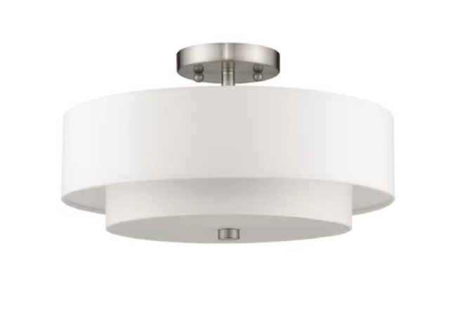 Two Drum Semi-Flush Mount, Joss & Main