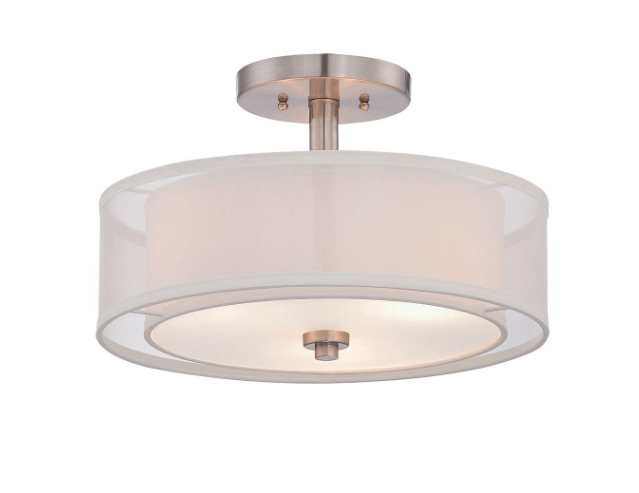Two Drum Semi-Flush Mount, Home Depot