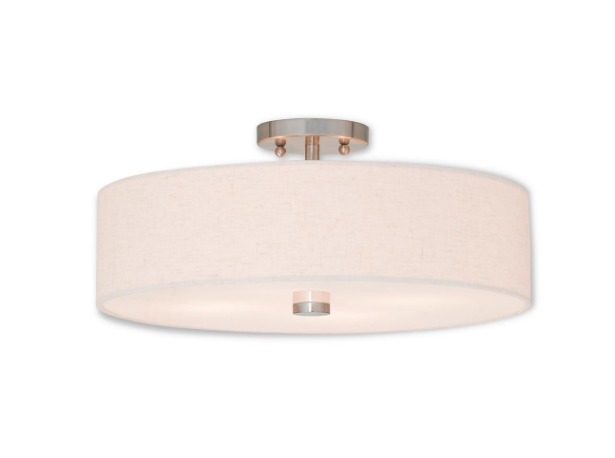 Single Drum Semi-Flush Mount, Home Depot