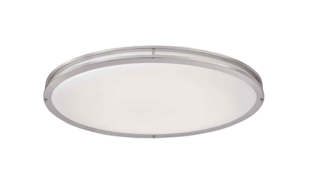 Brushed Nickel Oval Flush Mount, Home Depot