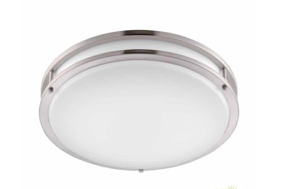 Brushed Nickel Round Flush Mount, Home Depot