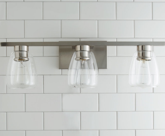 Brushed Nickel Vanity Light, Houzz
