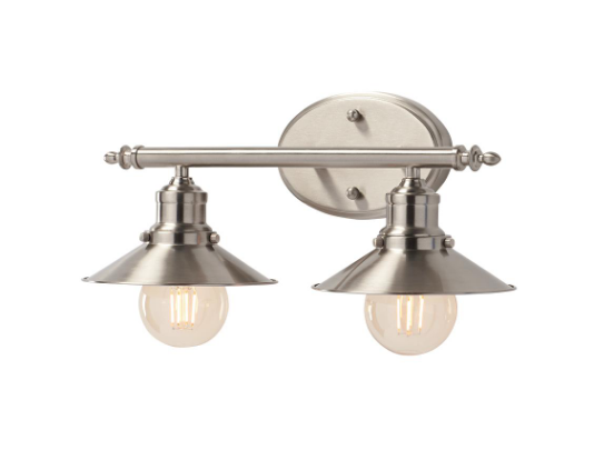 Metal Shade Vanity Light, Home Depot