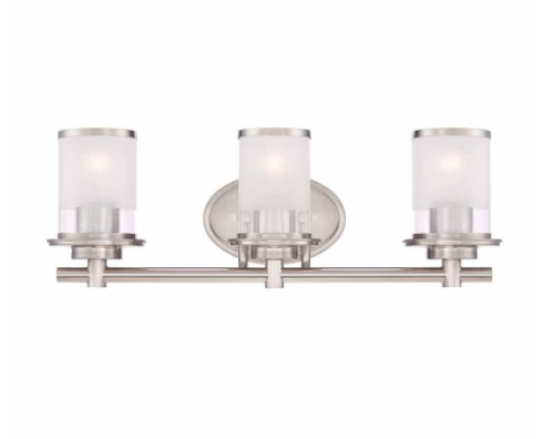 Clear & Frosted Glass Vanity Light, Home Depot