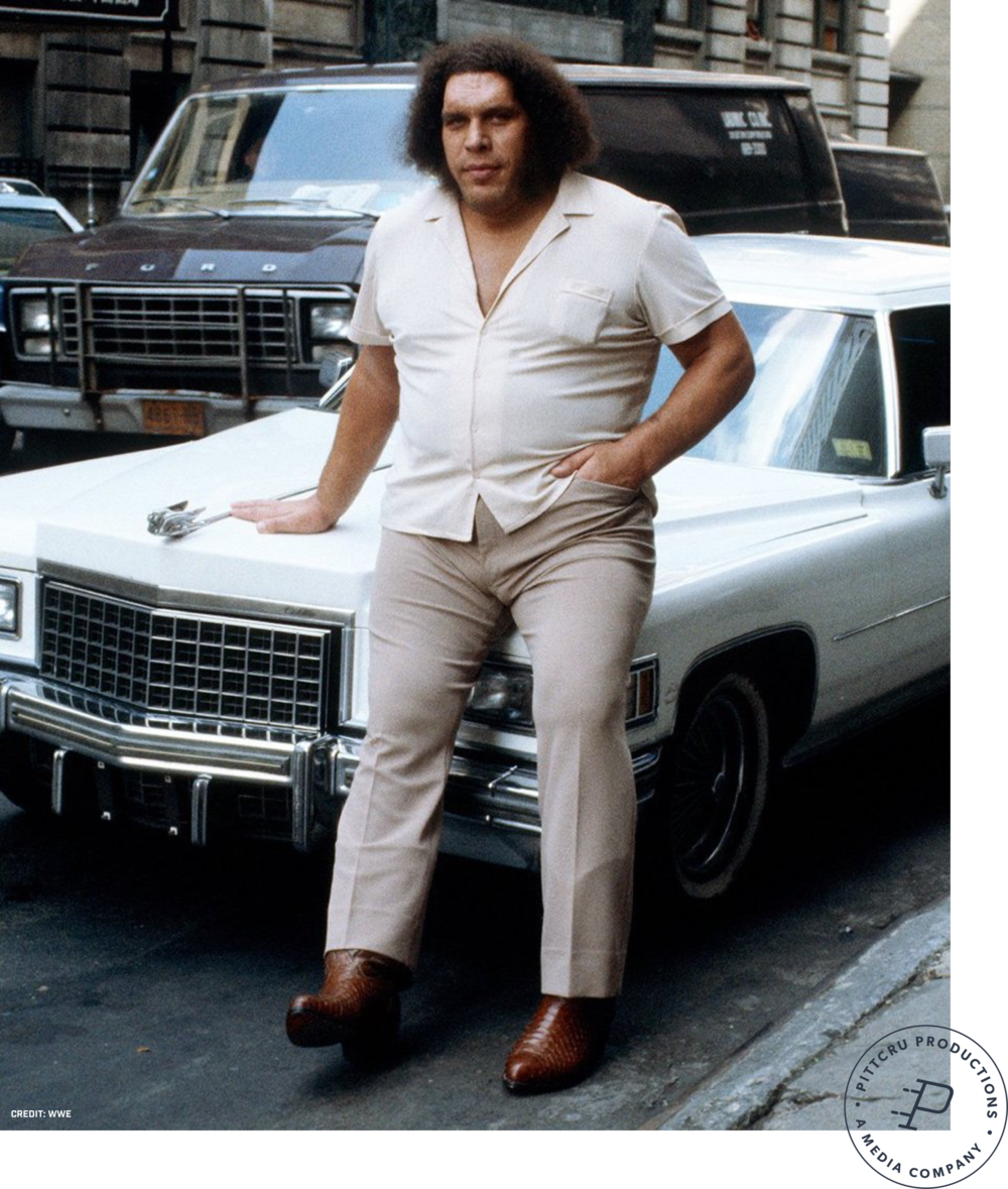 Andre the Giant - Working under the direction of Jason Hehir, PittCru produced the latest HBO Sports documentary, André the Giant. Watch the Trailer