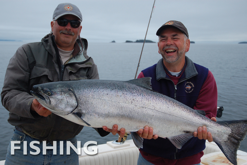 Experience world class fishing with our skilled guides. Catch a salmon or cutthroat trout, head out on the ocean, fly fish on the river or even travel to remote fishing destinations by helicopter.