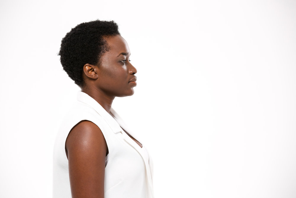 Profile of beautiful serious african american woman with short haircut.jpg