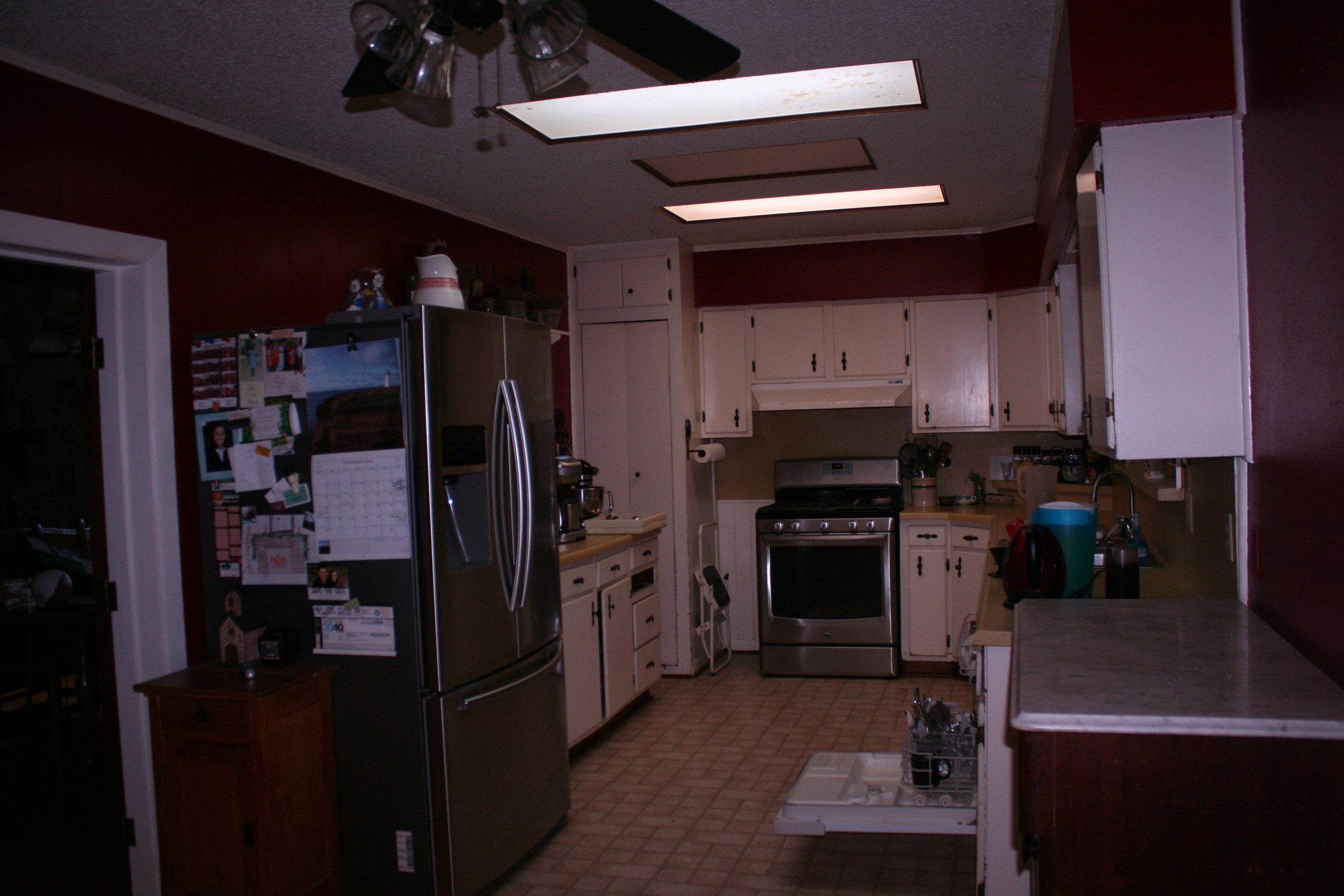 This is what my kitchen looks like now- before the renovation.