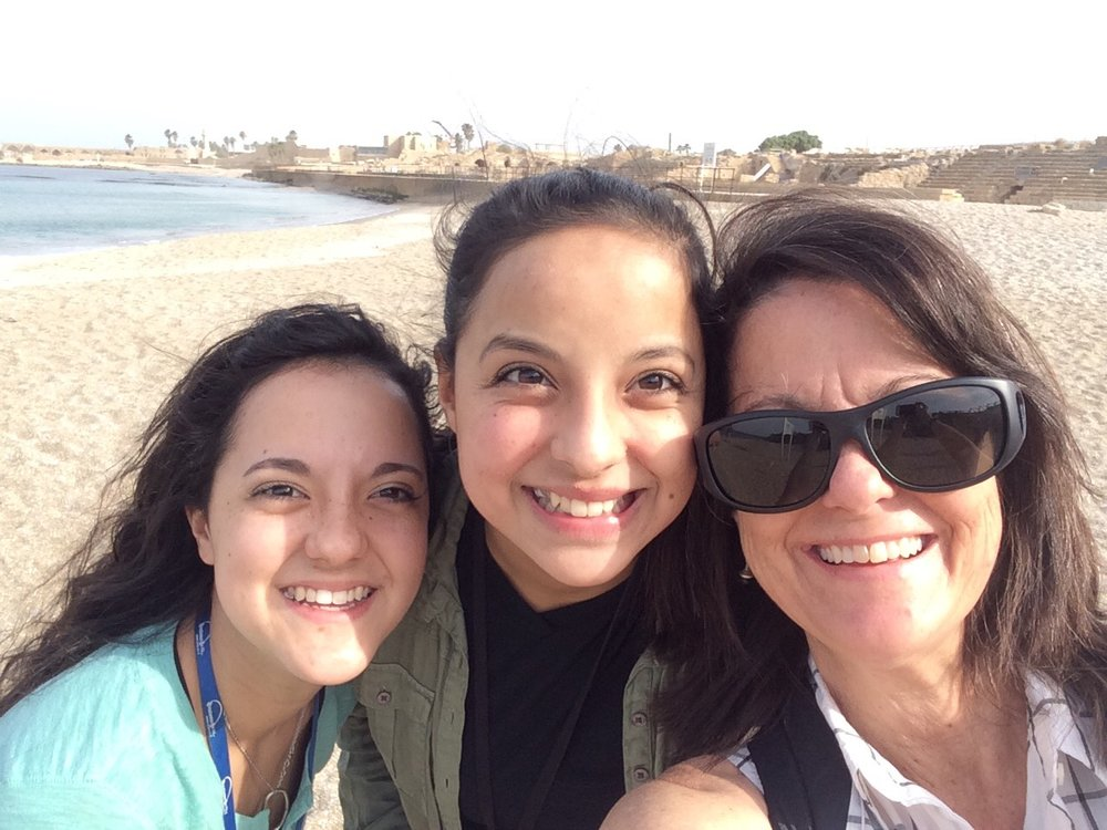 We began our trip on the shores of the Mediterranean Sea in Caesarea.