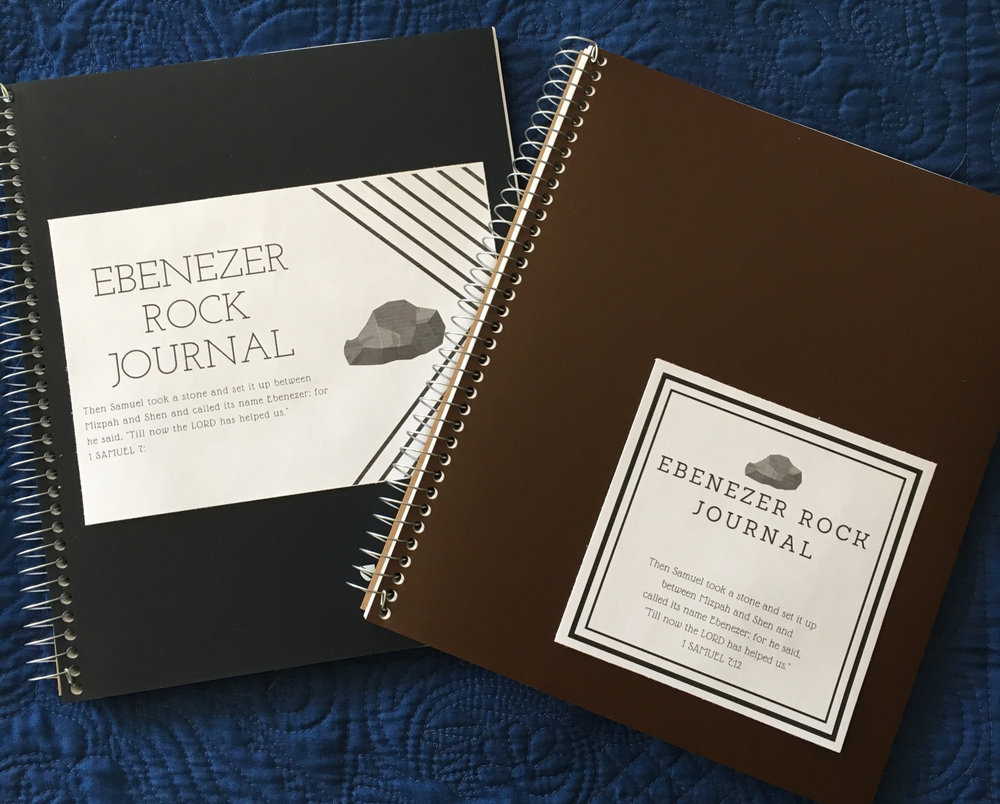Sign up below for not only the  Ebenezer List  print out, but also get these journal labels as well. Choose your favorite and attach it to the front of a journal or notebook. OR — just take a marker and write  EBENEZER JOURNAL  on the front. Often, the easiest way is the best way!