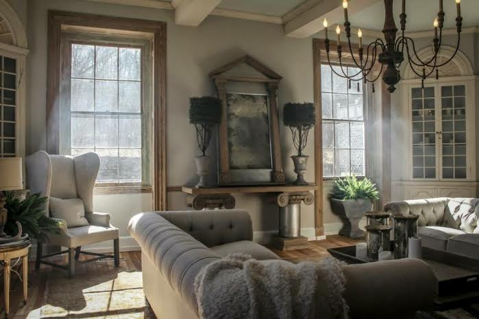 Cool Spring living room