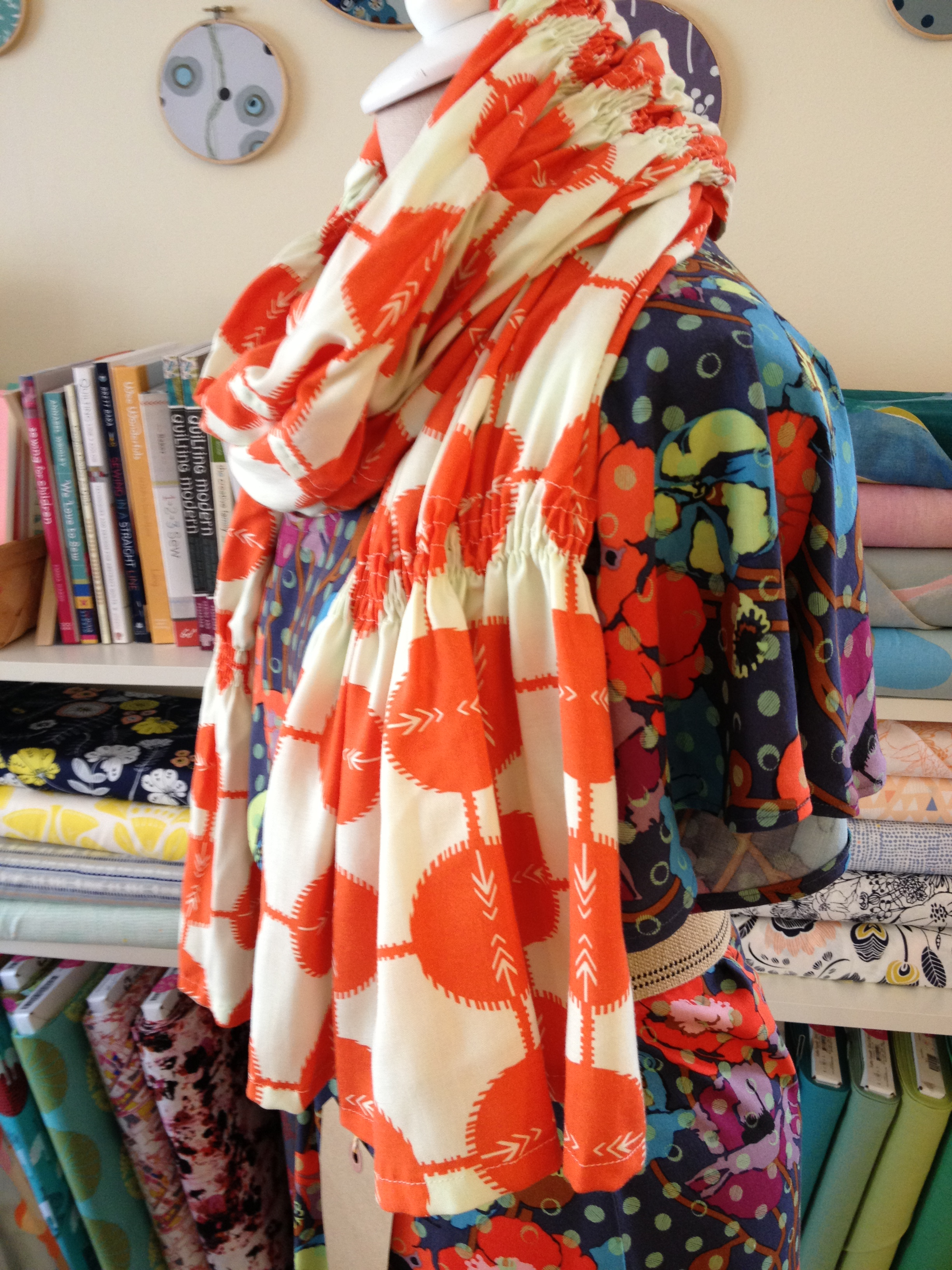 Ruched Scarf Class- This one is great for beginners.