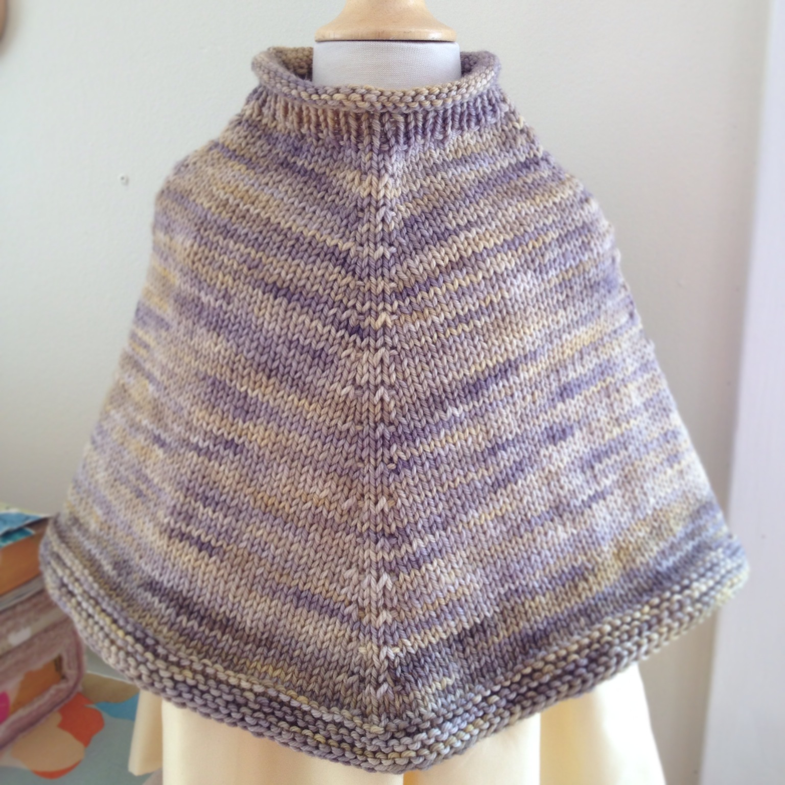 Knit Poncho Class- and there's a matching AG Doll version of this poncho included in the pattern- What a great gift!!