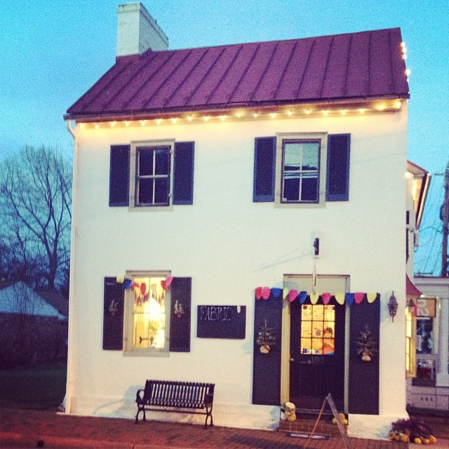 finch sewing studio christmas lights