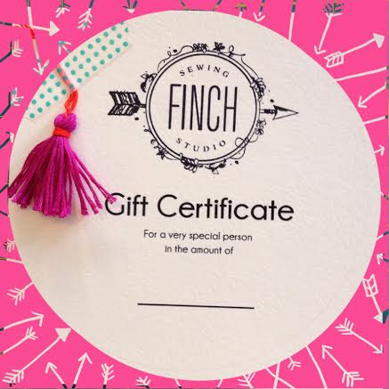 Gift Certificates can be used for classes, fabric, yarn... whatever your little heart desires!