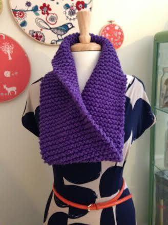 garter stitch infinity scarf