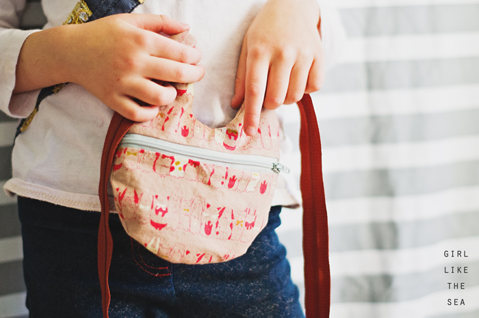 rabbit mini purse - girl like the sea for finch sewing studio