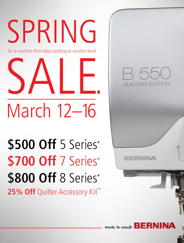 Bernina Spring Sale