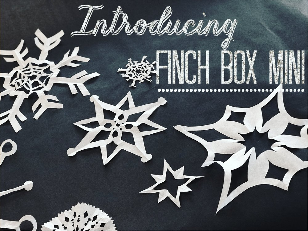 Haven't signed up for Finch Box yet?  Get in on the fun, and sign up now!  You'll get the free Mini Box delivered in time for Christmas in addition to your regularly scheduled boxes.  This little box will arrive just before Christmas complete with a mini project, supplies, and tools.  And here's one of our favorite parts: our hand illustrated pattern will be illustrated by Sarah Watts of Cotton + Steel!!  We know! This is the perfect gift for all your crafty friends.... of for yourself!  Current subscribers, don't worry! You can get in on the fun too! We will send out details on how you can get a Mini Box in your December box.