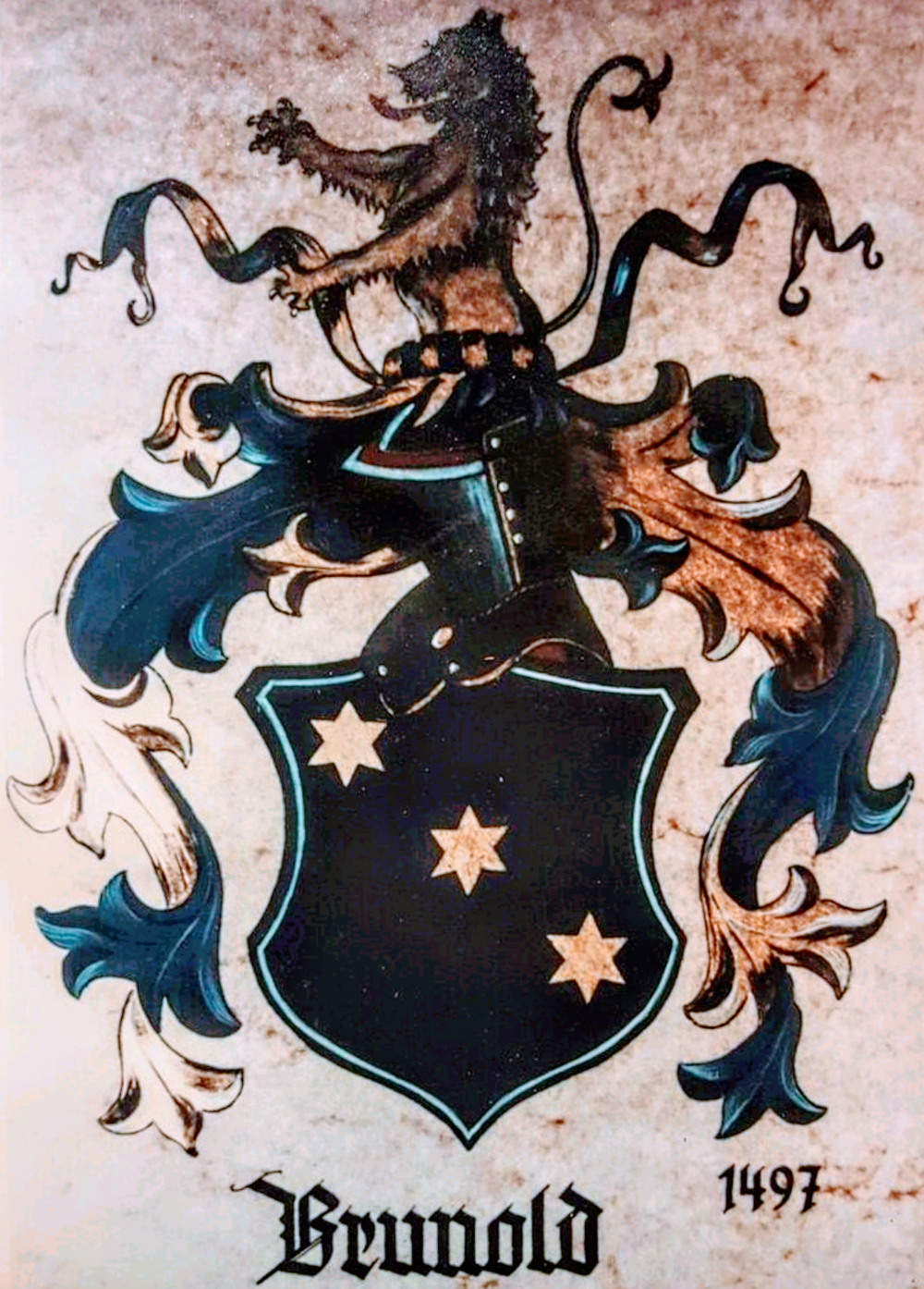 COAT OF ARMs - The Brunold family, whose heraldry serves as the atelier's distinguished logo, is more than 500 years old.