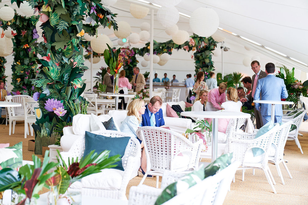 Cowdray Polo Hospitality Event - Essex, United Kingdom 2017  Cowdray Polo Hospitality and Private Party for Qtar Royal Family and Goodwood clients.  Brief Design and execution of a 'Henri Rousseau' inspired paper jungle installation. Collaborating with an Artist / Designer duo in Amsterdam, a London based 3D paper artist, and a hardcore team of stylists and set builders to install on-site.  Photography by   Dominic James    Client   SevenSistersCreative
