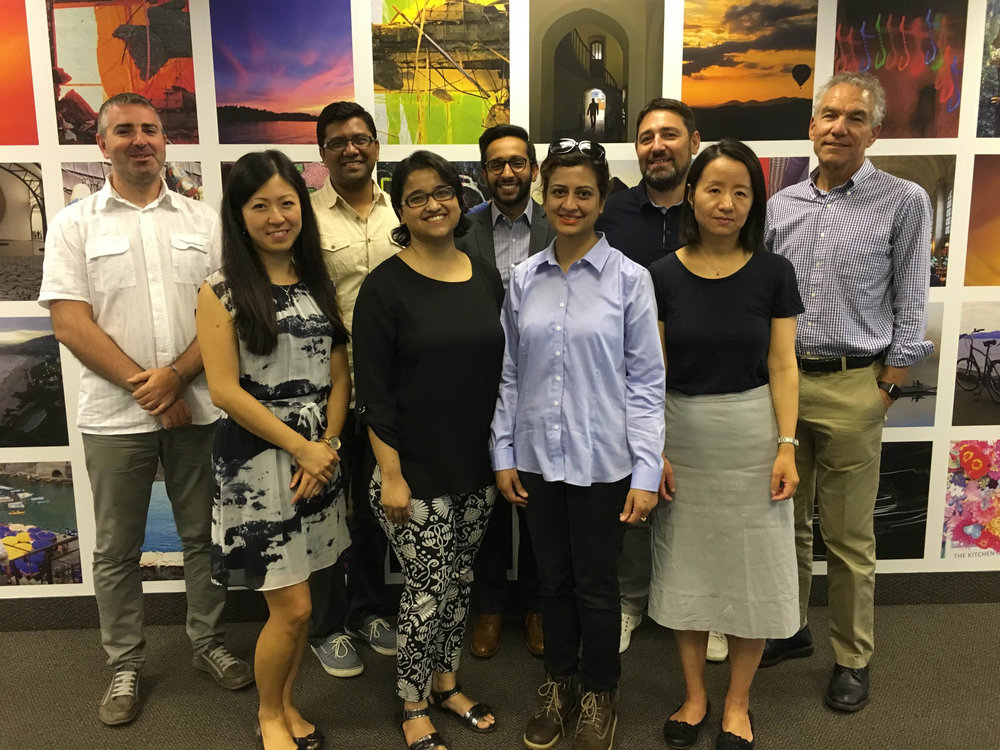Back row: Dragomir Stanojevic, Debashish Roy, Hasan Dharamshi, Aleksandar Penic, Dr. Steve Herman Front row: Dr. Suanne Wong, Syeda Firdaus, Shaina Raza, Dr. Cherie Ding Not pictured: Dr Paul van Arragon