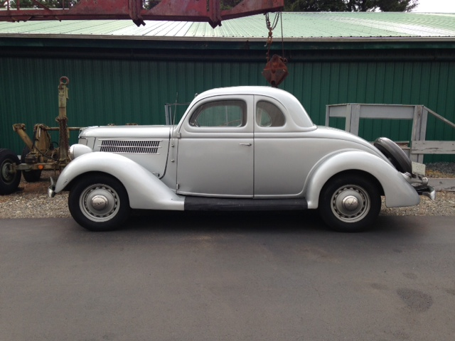 "1936 Ford 5 Window Coupe<div class=""sold"">sold</div>"