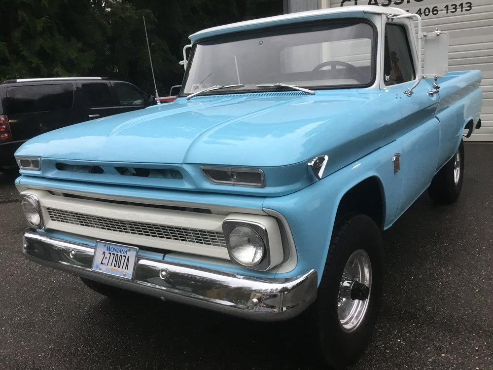 "1964 Chevy K-10 Truck 1/2 Ton<div class=""sold"">SOLD</div>"