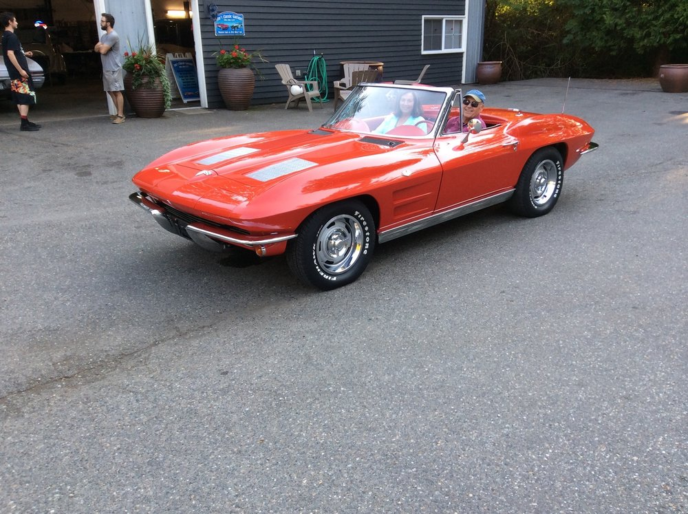 "1963 Chevy Corvette Convertible <div class=""sold"">SOLD</div>"