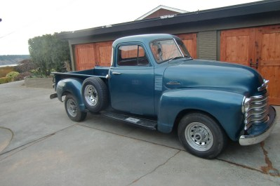 "1953 Chevy Pick Up Truck<div class=""sold"">SOLD</div>"