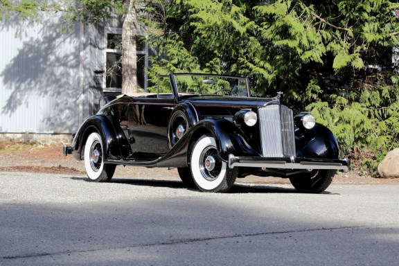 "1936 Packard Eight Convertible<div class=""sold"">SOLD</div>"