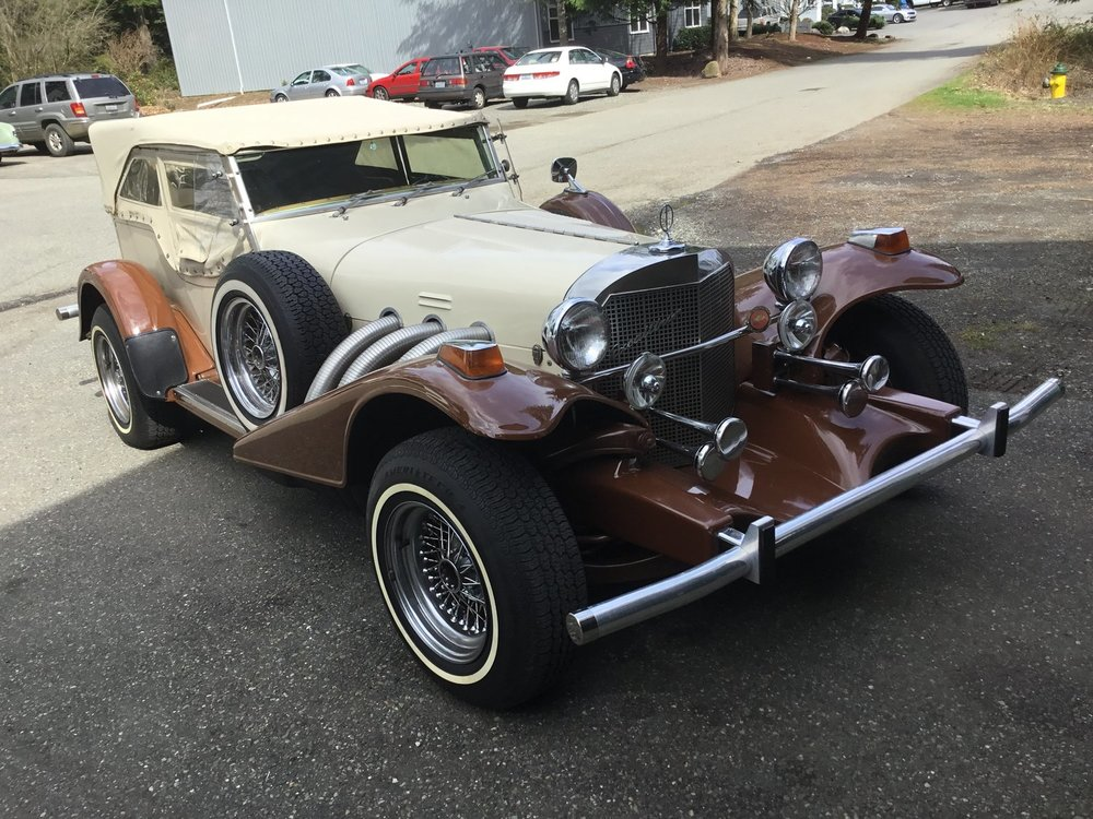 "1977 Excalliber Phaeton Convertible <div class=""sold"">sold</div>"
