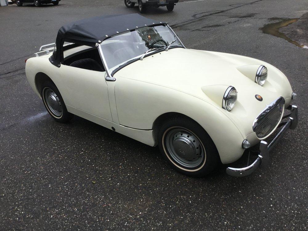 "1959 Austin Healey Bug Eye Sprite MK I <div class=""sold"">SOLD</div>"
