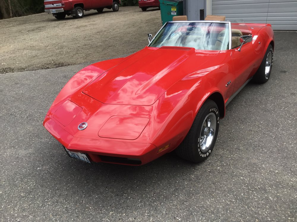 "1974 Chevrolet Corvette Stringray<div class=""sold"">SOLD</div>"