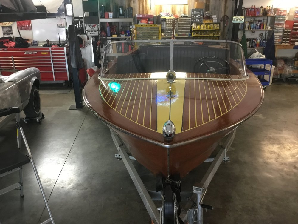 "1959 Chris Craft W/ Trailer <div class=""sold"">SOLD</div>"
