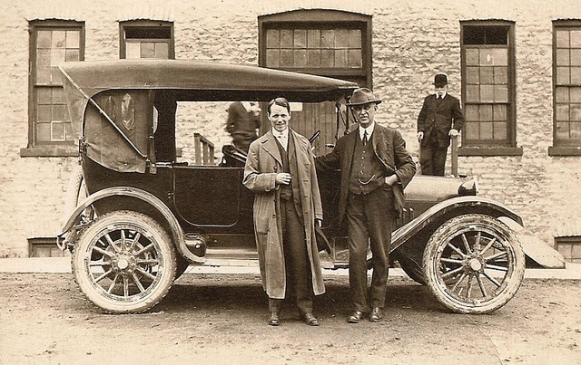 1919 Dodge Brothers Touring                                                                                       Photo in St. Marys Ontario Canada in front of the old Maxwell Plant.