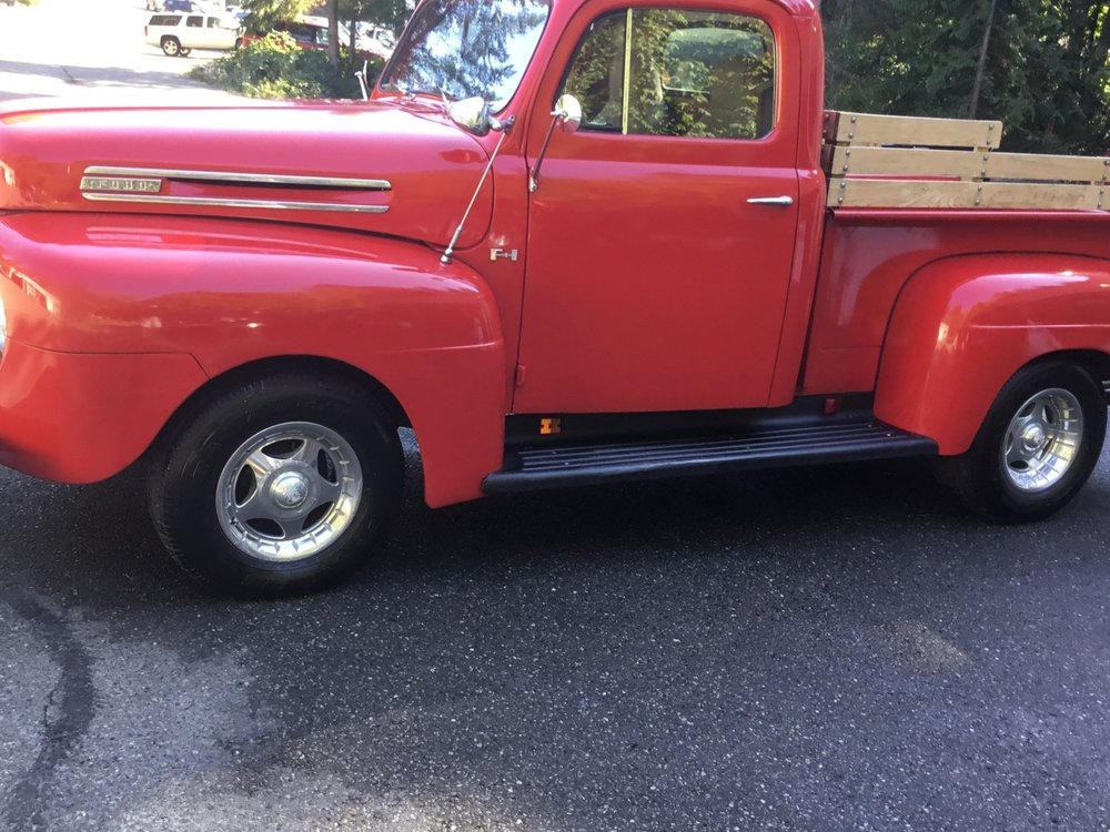"1950 Ford F-1 Pick-Up<div class=""sold"">SOLD</div>"
