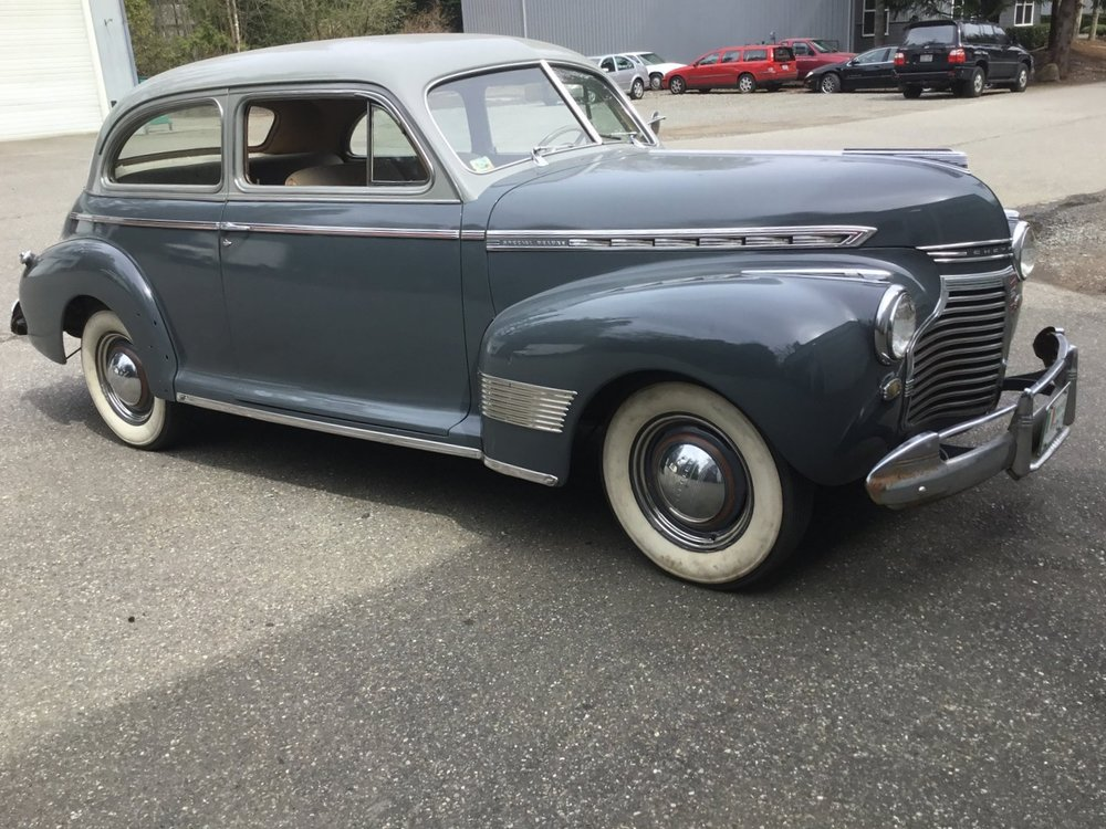 """1941 Chevy Special Deluxe<div class=""""price"""">$16,500</div>"""