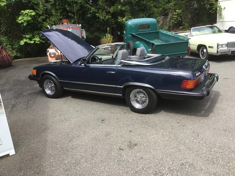 "1976 Mercedes Benz 450SL<div class=""sold"">SOLD</div>"