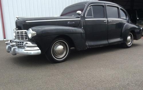 1948 lincoln zephyr sedan  $18,500