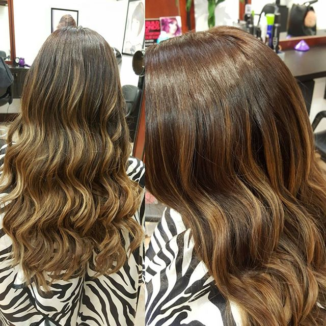 Check out this color melt balayage by Dagna C!