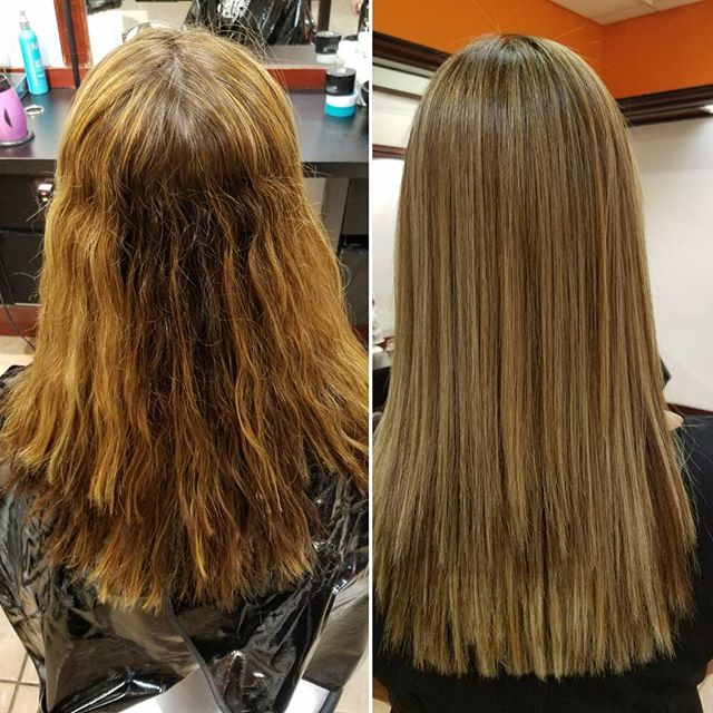 Corrective color magic before and after with Danielle ❤