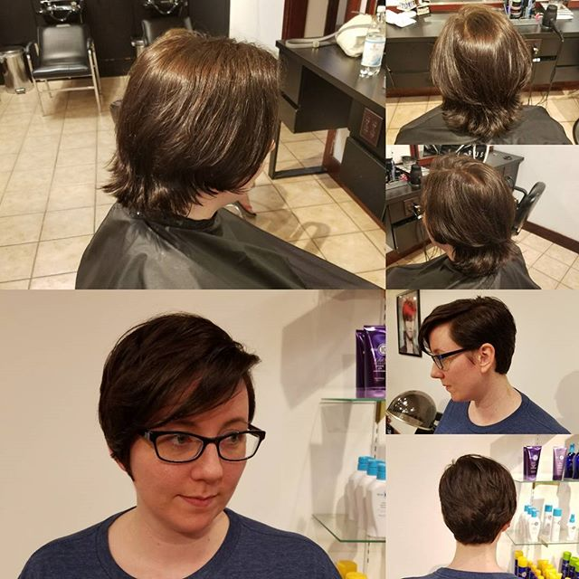 How about this before and after pixie cut by Laura D?!