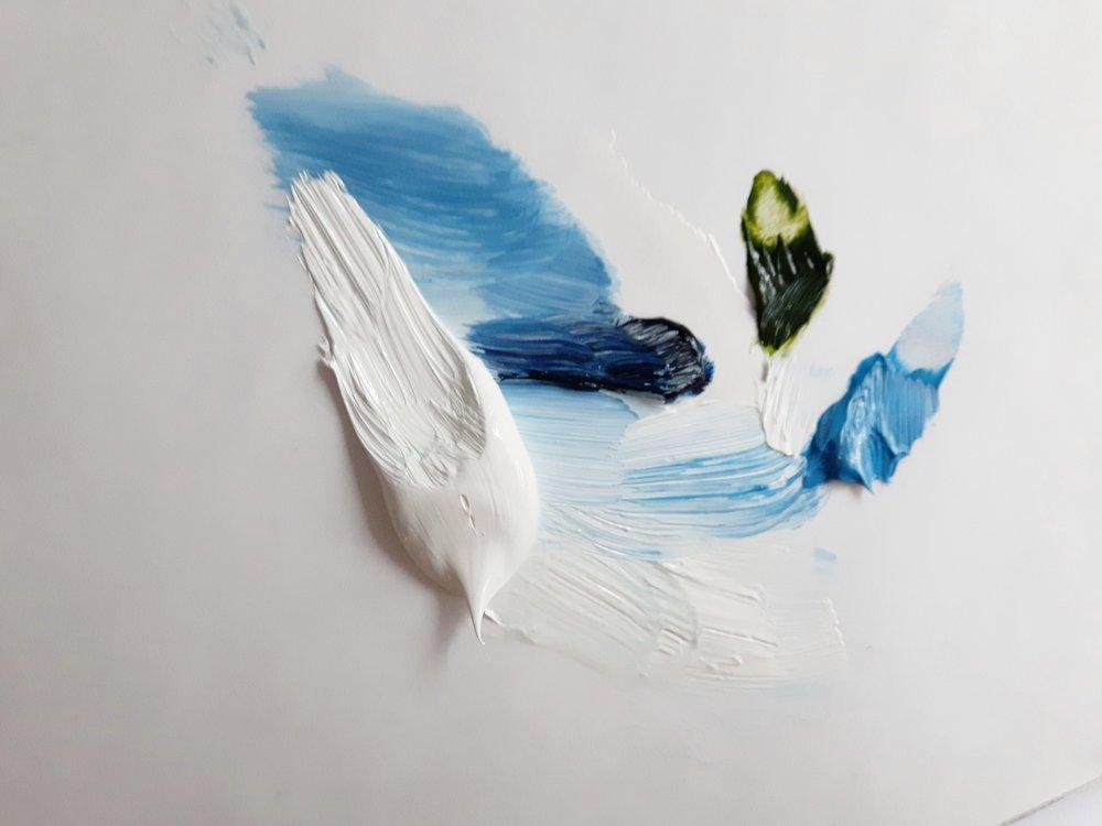 marysia-champ-art-studio-process-supplies-paint-brushes-canvas-paint-blobs