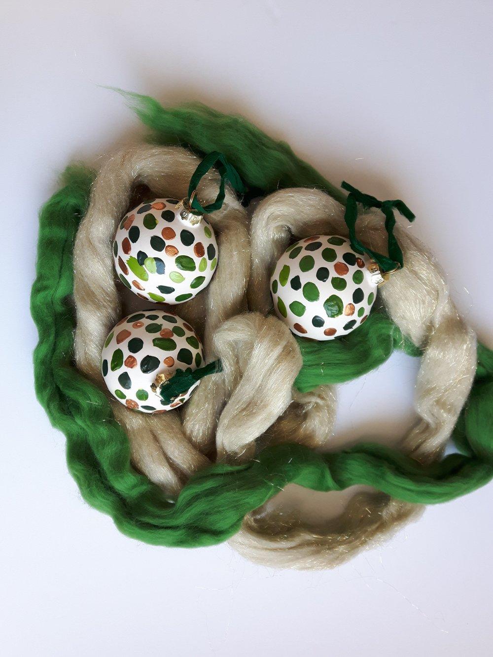 Golden Fir Globe Ornament - $25.00