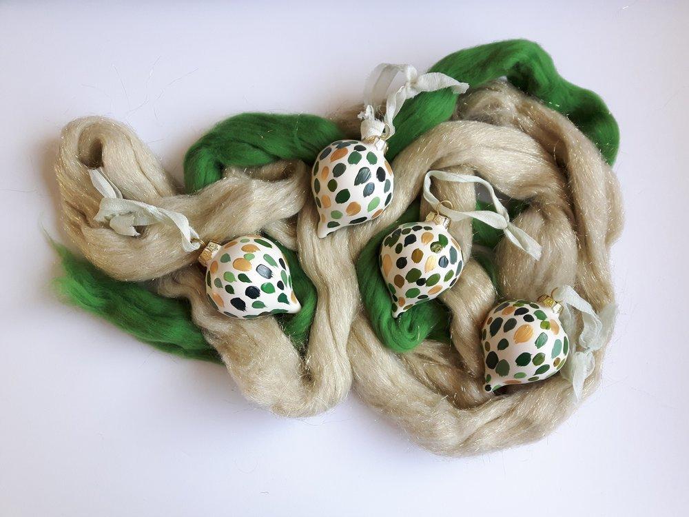 Golden Fir Oblong Ornament - $25.00