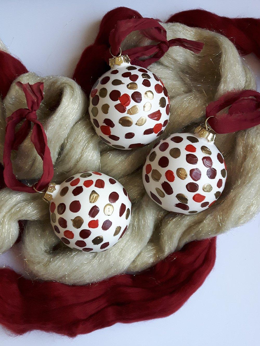 Noel Globe Ornament - $25.00