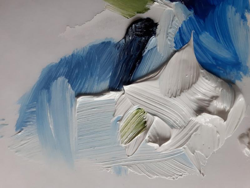 marysia champ canadian prairie landscape artist paint palette blues whites greens